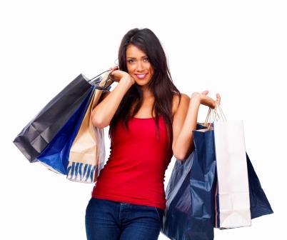 Девушка после шопинга
