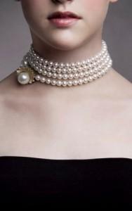 Ожерелье коллар их жемчуга