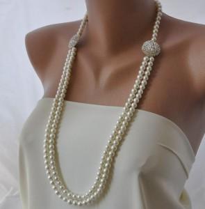 Длинное ожерелье из жемчуга - матине