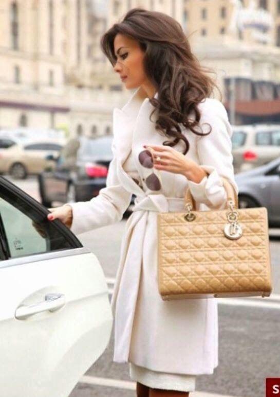 Изысканная женщина садится в машину