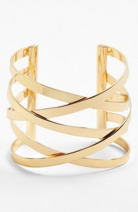 Широкий металлический браслет - спирали