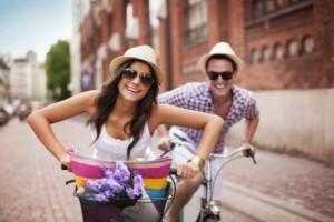 Веселое времяпровождение на велосипеде