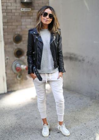 Стильный образ с белыми кроссовками