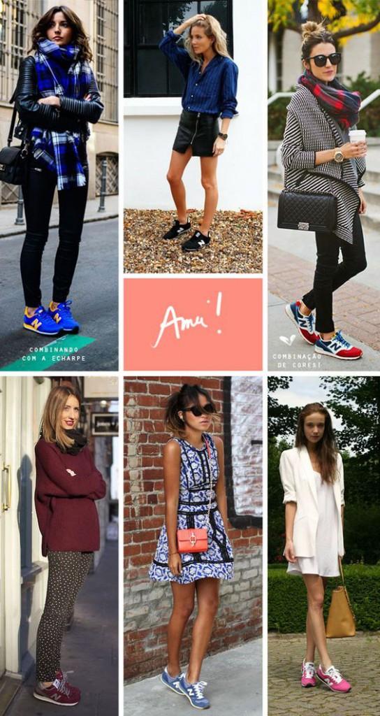 Комбинация одежды с кроссовками
