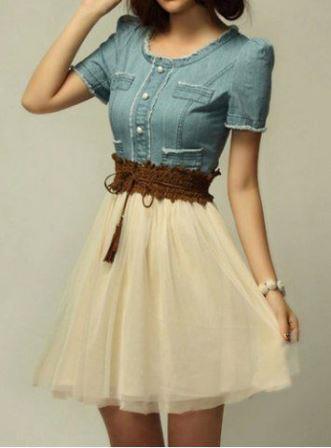 Платье украшенное стильным поясом на талии