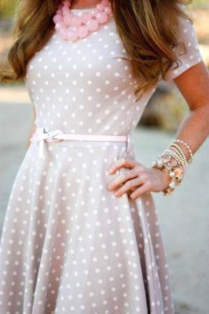 Платье с тоненьким пояском