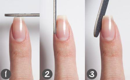 Придание ногтям правильной формы