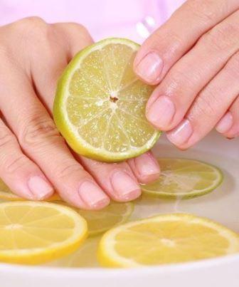 Компрессы с лимона для ногтей