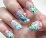 Стильный аквариумный дизайн ногтей
