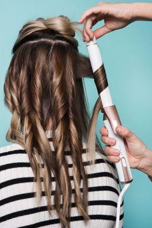 Накрутка волос на плойку дома
