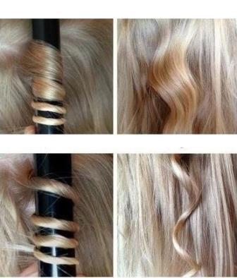 Накрутка волос на плойку