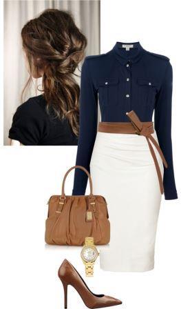 Пример офисного стиля одежды