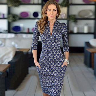 Деловое облегающее платье