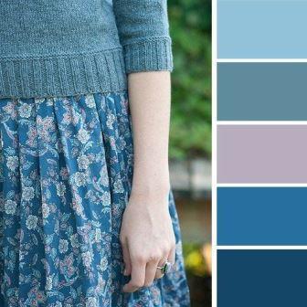 Сочетание синих цветов